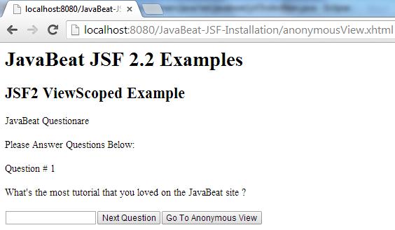 JSF 2 ViewedScoped Example 6