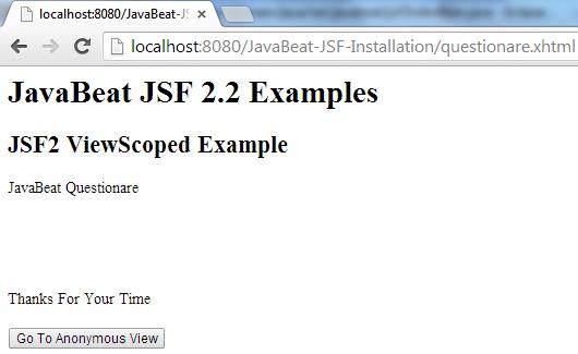 JSF 2 ViewedScoped Example 4