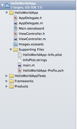 Files in Project Navigator