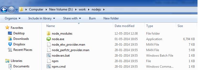 NodeJS Directory