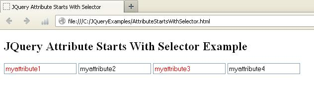 JQuery Attribute Starts With Selector