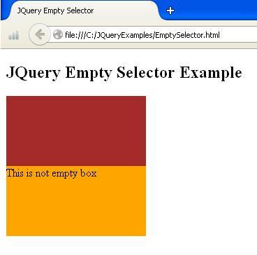 JQuery Empty Selector Demo