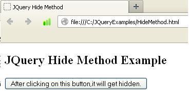 JQuery Hide Method