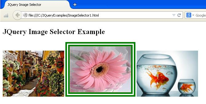 JQuery Image Selector Example