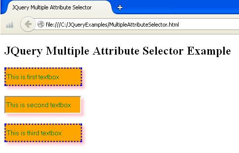 JQuery Multiple Attribute Selector