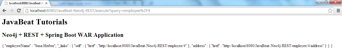 Neo4j REST WAR Running Execute Page