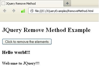JQuery : Difference Between detach(), hide() And remove() Methods