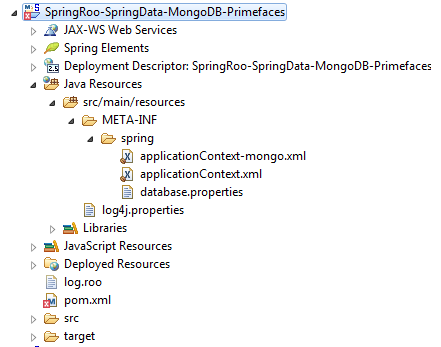 PrimeFaces + Spring Roo + Spring Data + MongoDB Integration Example