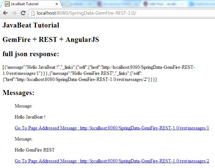 Spring REST GemFire AngularJS Demo