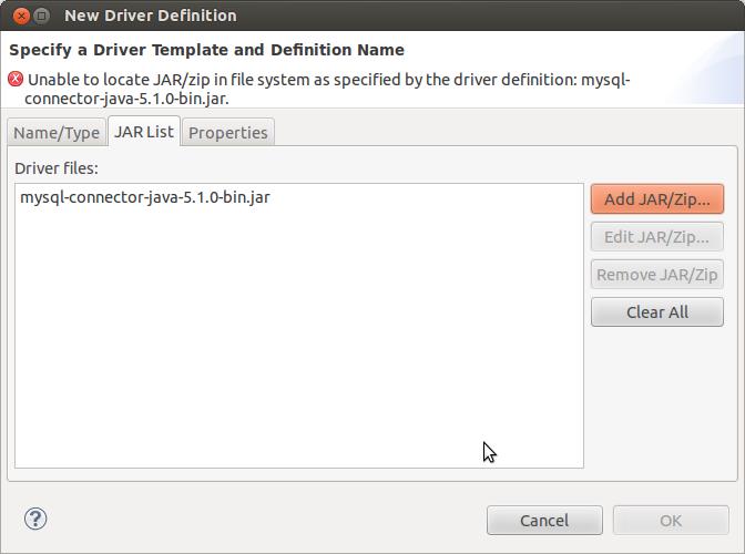 MySQL Driver JAR File