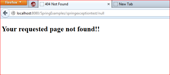 Spring MVC : How To Return Custom 404 Error Pages 1