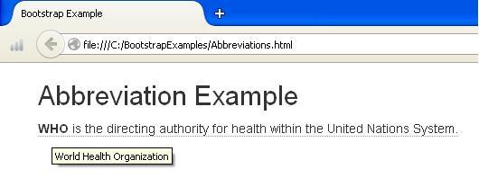 Abbreviation Example