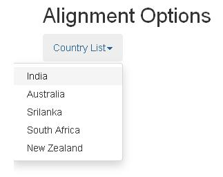 Bootstrap Alignment Options Example