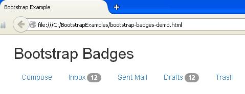 Bootstrap Badges Example