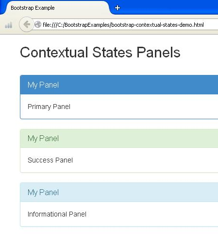 Bootstrap Contextual States Panel Example