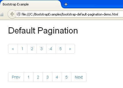 Bootstrap Default Pagination Example