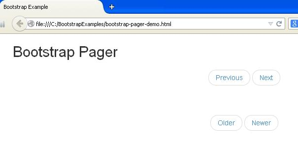 Bootstrap Pager Example