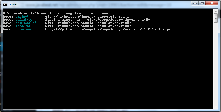 Bower - Install After Searching Libraries