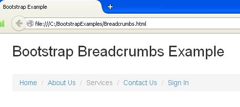 Bootstrap Breadcrumbs Example