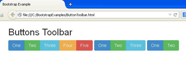 Bootstrap Button Toolbar Example