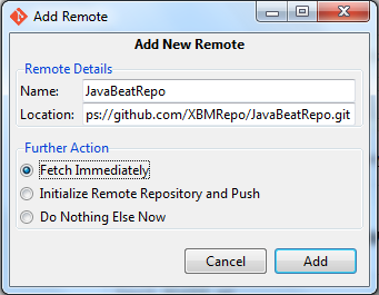 Connect your repository remotely