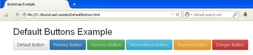 Default Buttons Example