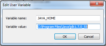 Define JAVA_HOME Variable