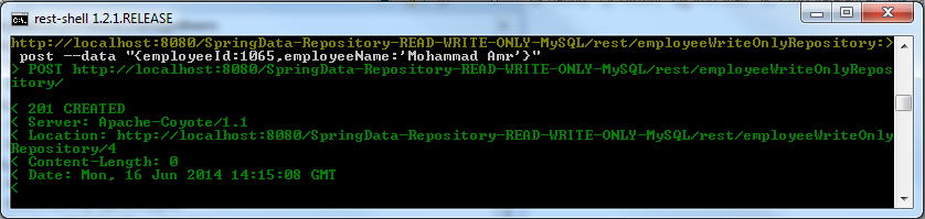 Employee Insertion Using WriteOnly Repository