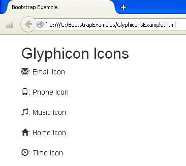 Glyphicons Example