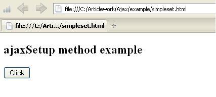 JQuery ajaxSetup Example