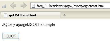 JQuery ajaxgetJSON Example