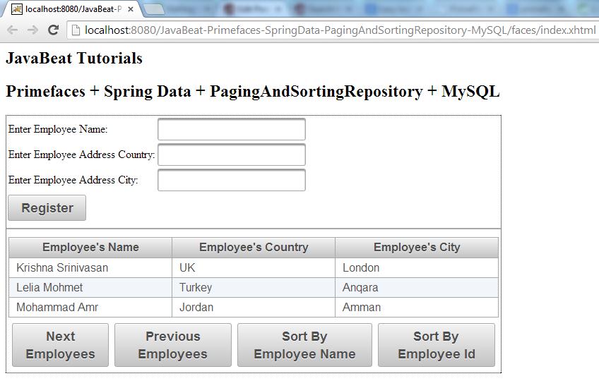 PagingAndSortingRepository - The Initial View