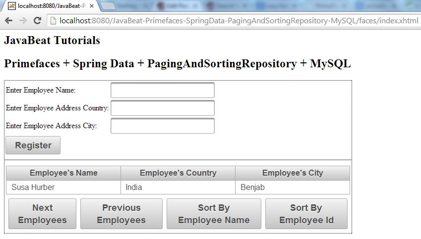 PagingAndSortingRepository - The Next Employees