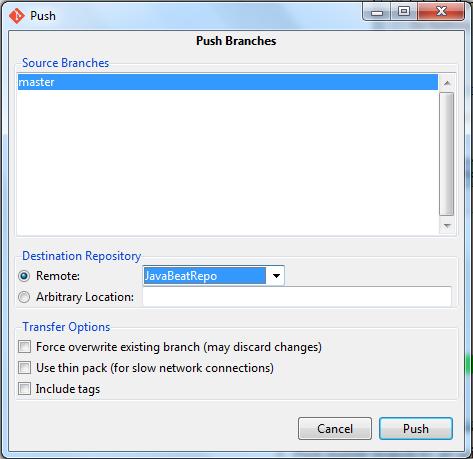Push Master Branch