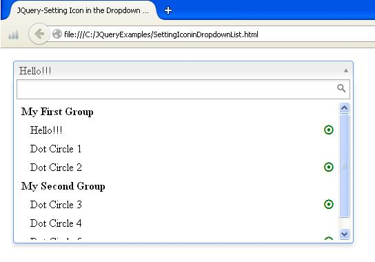 JQuery - How To Add Icon in the Dropdown List Box