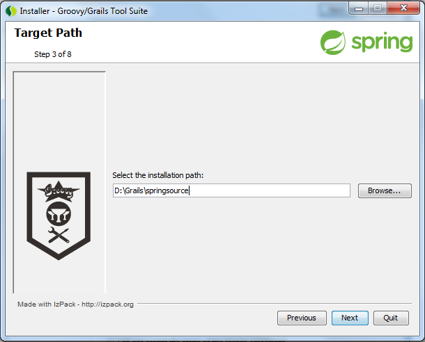 Groovy / Grails Suite Installation Path