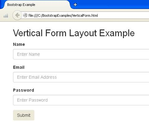 Bootstrap Vertical Form Picture