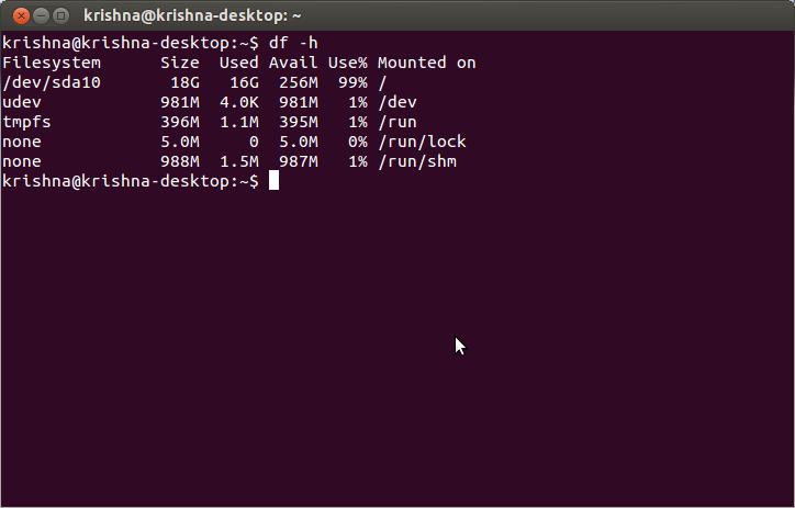 Ubuntu Disk Space