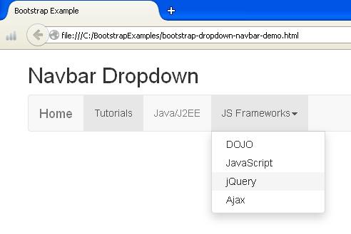 Bootstrap Navbar Dropdown Example