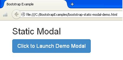 Bootstrap Static Modal Example1