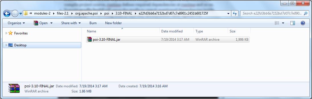 Gradle - Apache Poi has been downloaded into your gradle cache