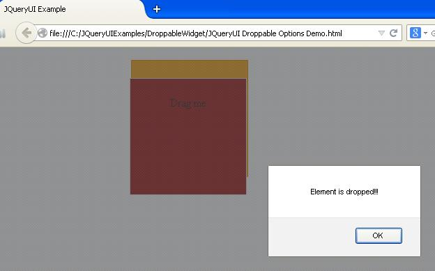 JQueryUI Droppable Options Example