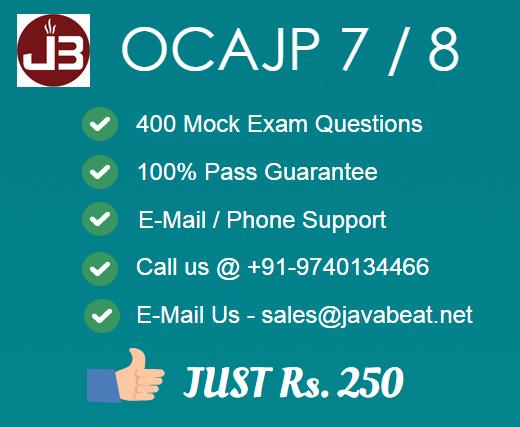 OCAJP 8 / OCAJP 7 Exam Details