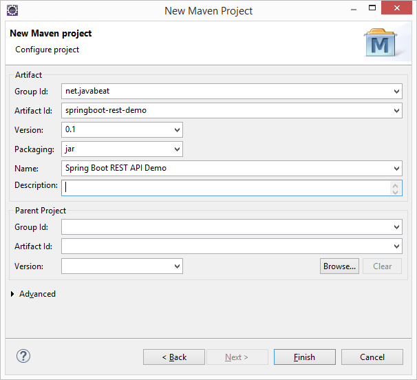 SpringBoot MongoDB RESTAPI MAVEN 1