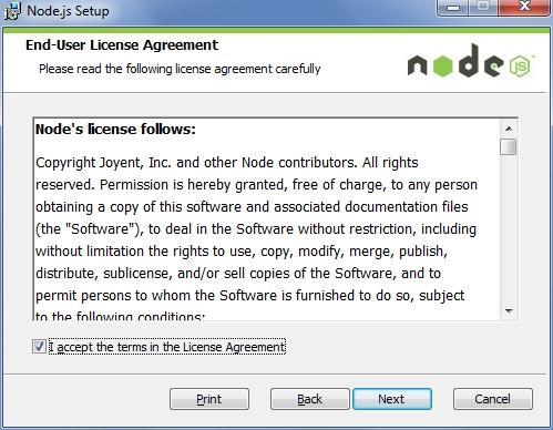 Node.js Programming in Windows