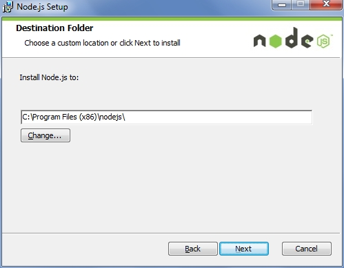 Node.js Installation Path on Windows