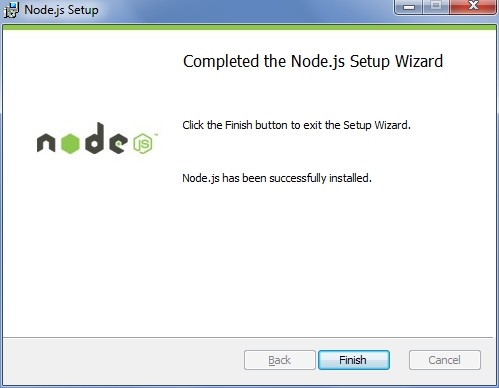 Node.js and NPM Installation Completed