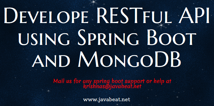 Create RESTful API using Spring Boot and MongoDB