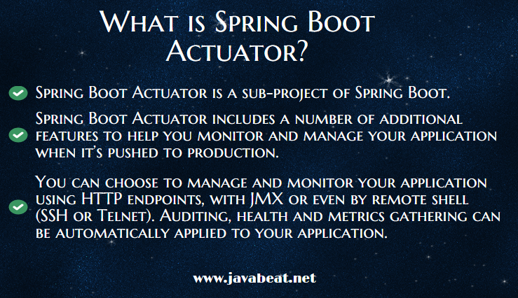 What is Spring Boot Actuator?