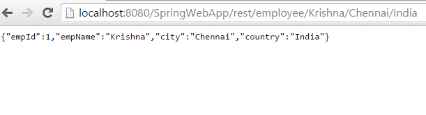 Spring JSON Example Application